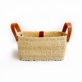NATURAL FIBER RECTANGULAR BASKET